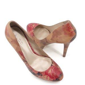 Aldo Floral Round Toe Heels Size 39 - 8.5
